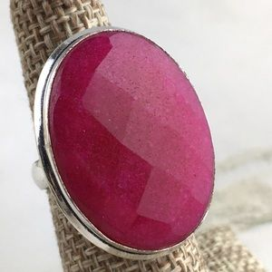 Faceted Ruby Ring Size 7
